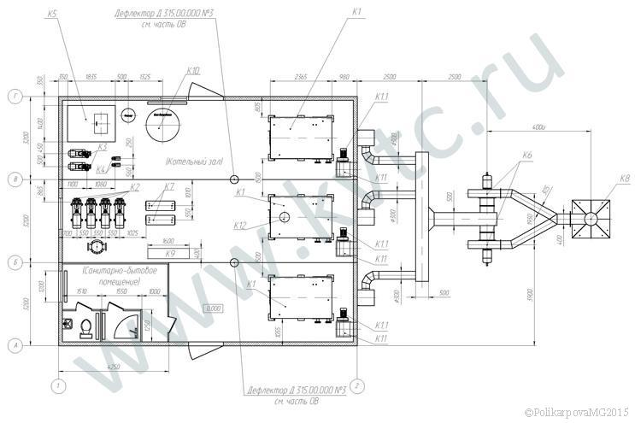 Модульная котельная 2,4 план